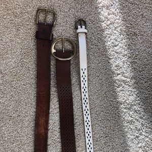 Carhart and J.Crew Belts Large